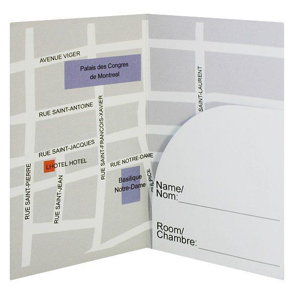 LHotel Hotel Registration Key Card Holder (Inside View)