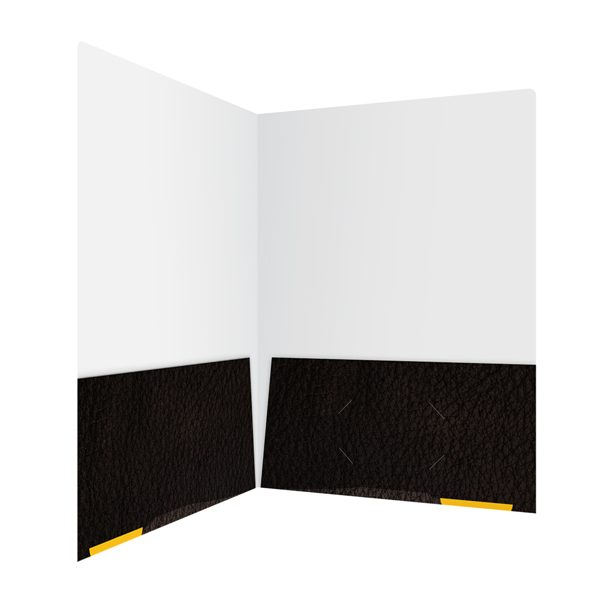 Libre Initiative Black Patterned Pocket Folder (Inside Right View)