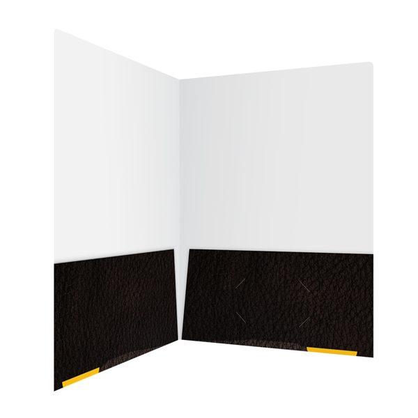 Libre Initiative Black Patterned Pocket Folder (Inside Right View)