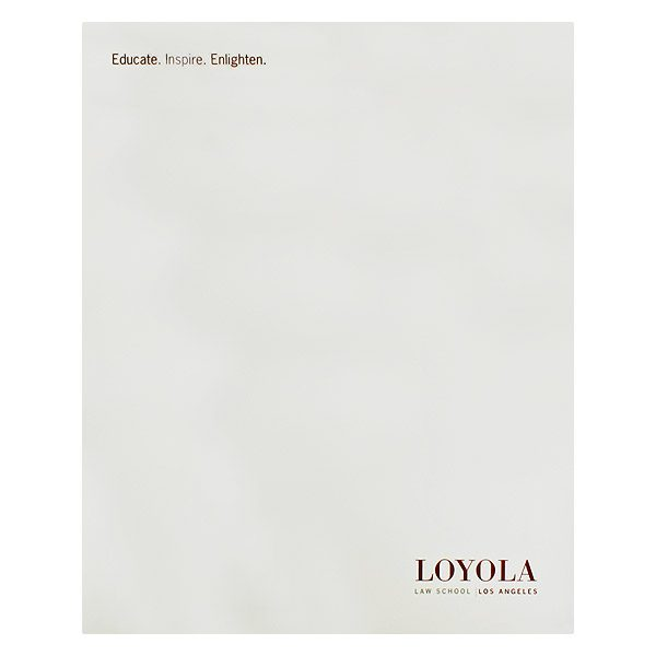Loyola Law School Presentation Folder (Front View)
