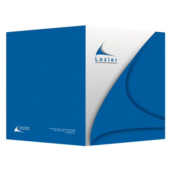 Designer Presentation Folders by Lozier Consulting (Front and Back View)