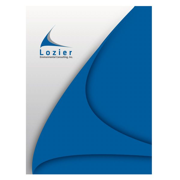Lozier Consulting Designer Presentation Folder (Front View)