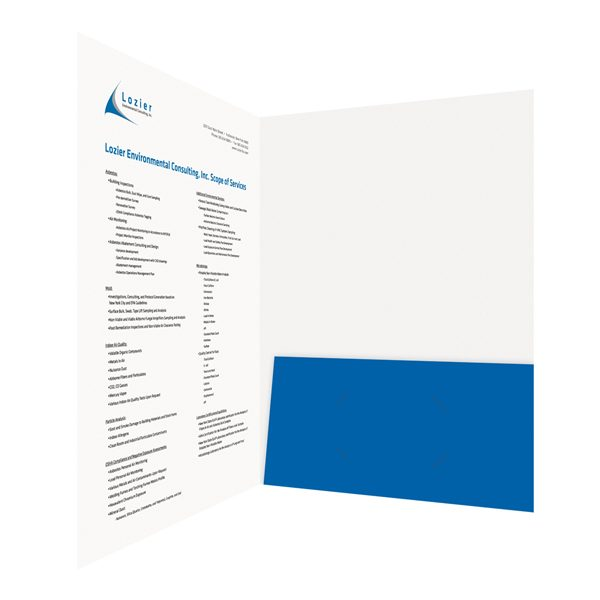Lozier Consulting Designer Folder (Inside Right View)