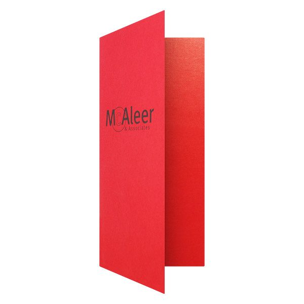 McAleer 4x9 Red Folder (Front Open View)