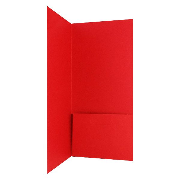 McAleer Single Red Pocket Folder (Inside Pocket View)