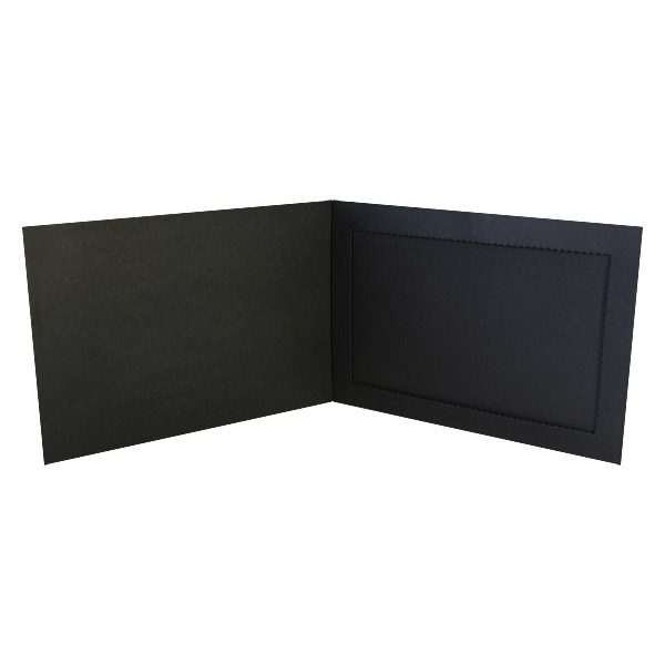 Monroe College Black Photo Folder Frame (Inside View)