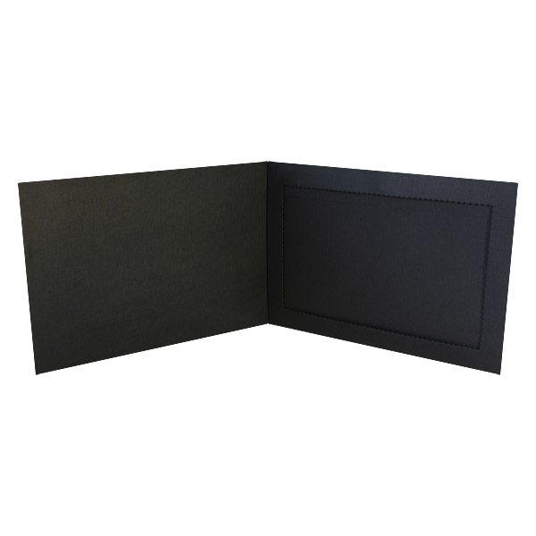 Monroe College Black Photo Folder Frame (Inside View)