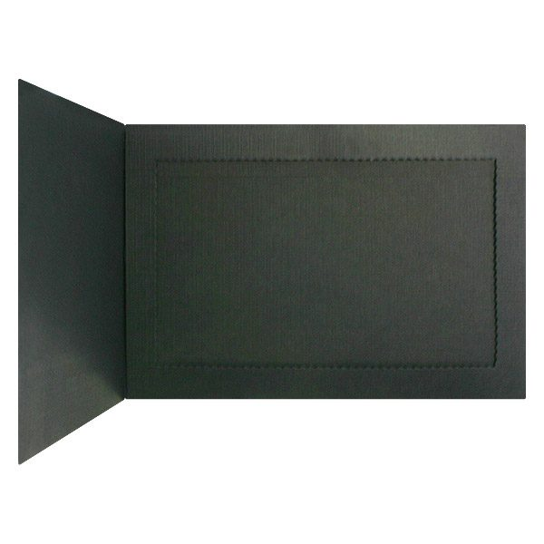 Monroe College Solid Black Photo Holder (Inside Right View)