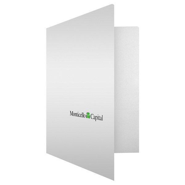 Monticello Capital Financial Logo Pocket Folder (Front Open View)