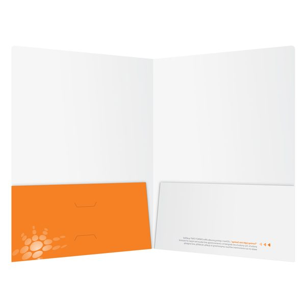 naturaLED 2-Pocket Laminated Folder (Inside View)