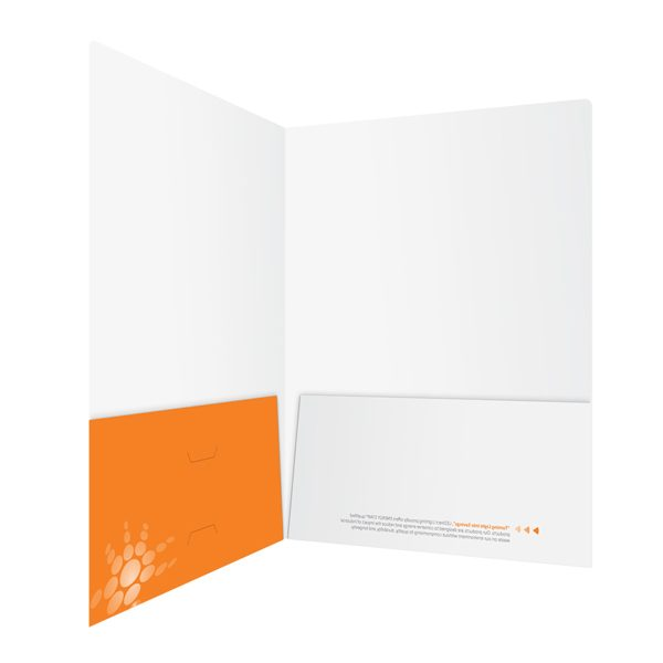 naturaLED Orange Laminated Pocket Folder (Inside Right View)