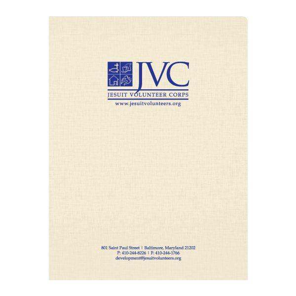 JVC Nonprofit Organization Presentation Folder (Front View)