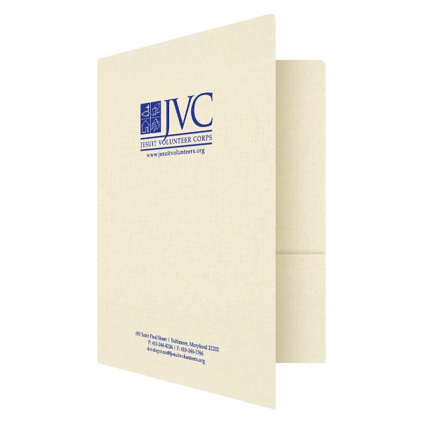 Pocket Folders for JVC Nonprofit Organization (Front Open View)