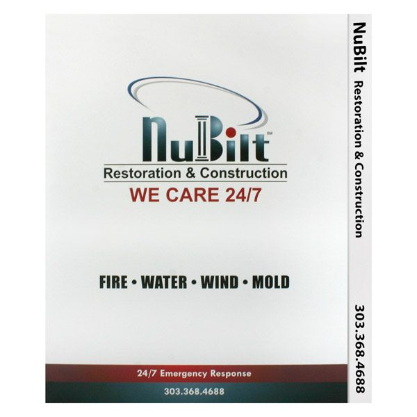 NuBilt Restoration & Construction Tabbed File Folder (Front View)