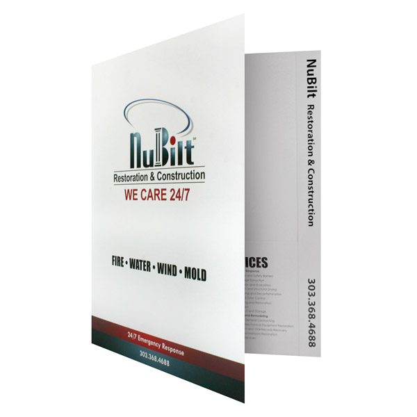 Tabbed File Folders for NuBilt Construction (Front Open View)