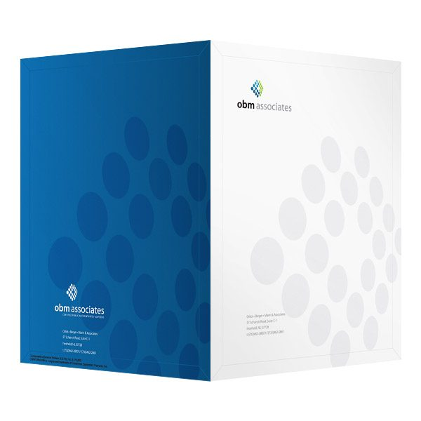folder design  obm accounting presentation folders