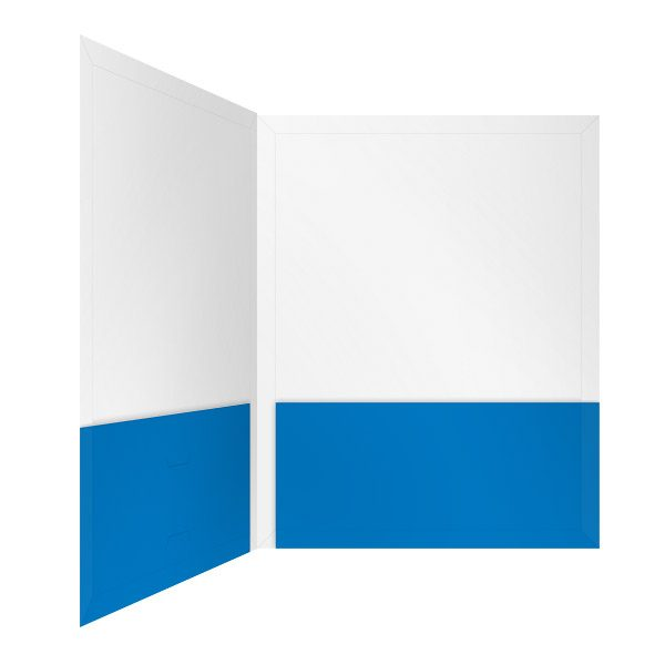 OBM Associates Blue and White Pocket Folder (Inside Right View)