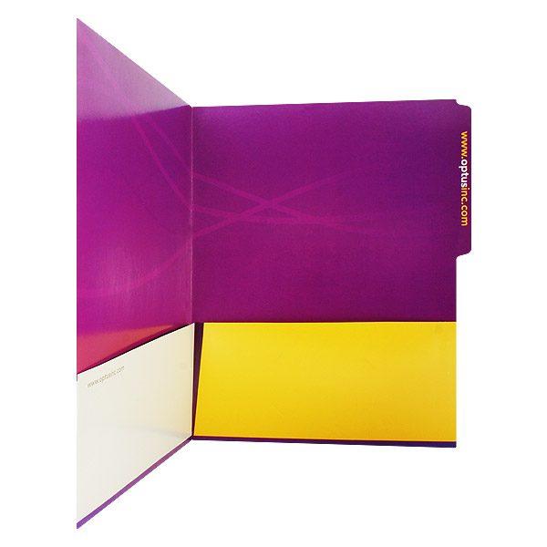 Optus Purple File Folder (Inside Pocket View)