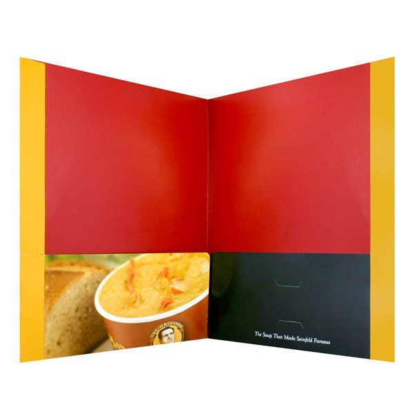 The Original Soup Man Cup of Soup Pocket Folder (Inside View)