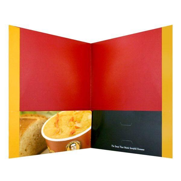 The Original Soup Man Cup of Soup Pocket Folder (Inside View)