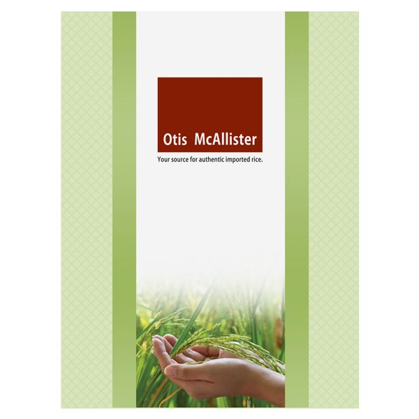 Otis McAllister Imprinted Pocket Folder (Front View)
