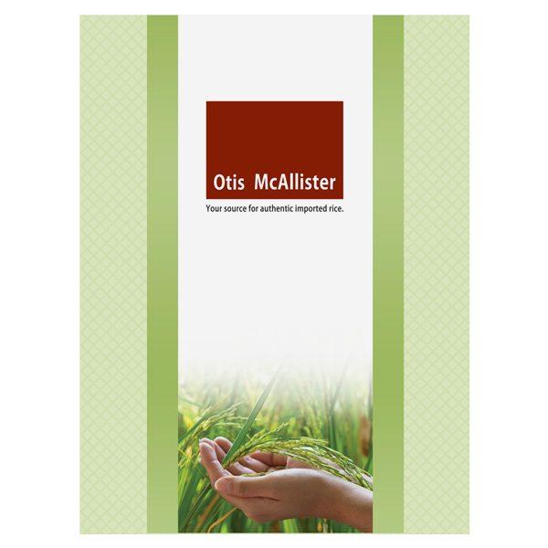 Otis McAllister Imprinted Pocket Folder (Front View)