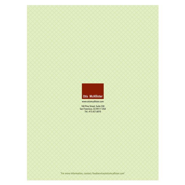 Otis McAllister Mesh Design Pocket Folder (Back Cover)