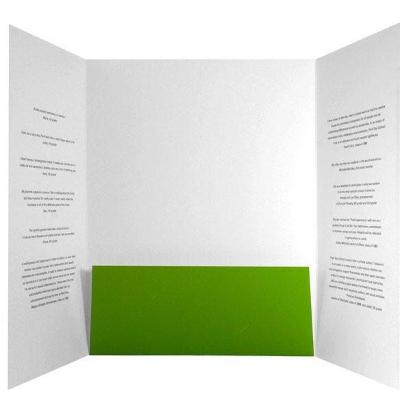 Park Day School Single Pocket Folder (Inside View)