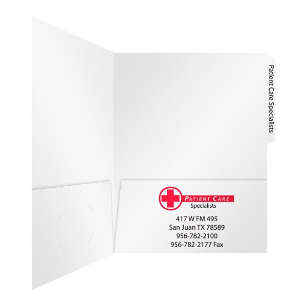 PCS Medical Records Folder (Inside Right View)