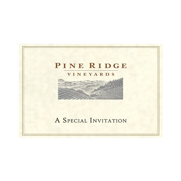 Pine Ridge Vineyards Invitation Pocket Folder (Front View)