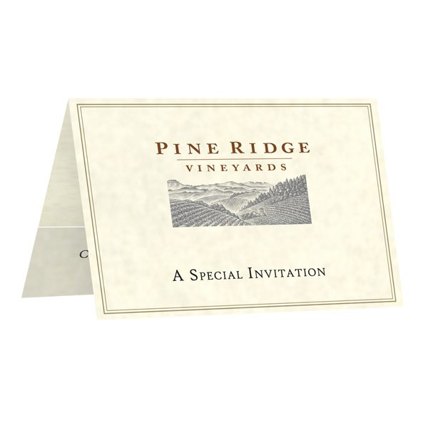 Pine Ridge Invitation & Card Holder (Front Open View)