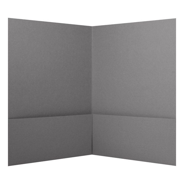 Pine Ridge Vineyards Soft Gray Pocket Folder (Inside View)