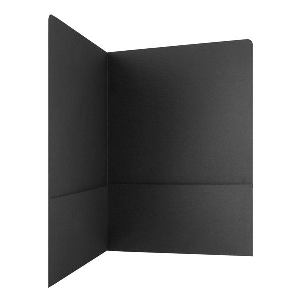 Planet Pictures Blank Black Folder with Two Pockets (Inside Pocket View)