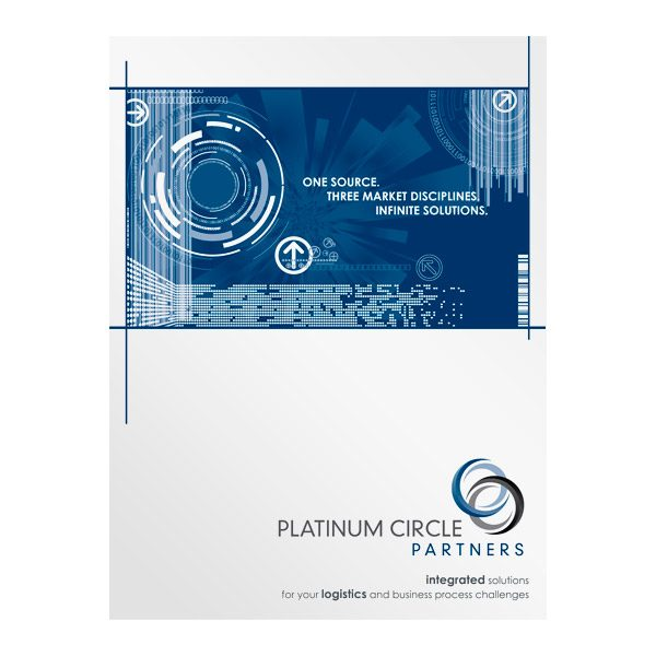 Platinum Circle Partners Infographic Presentation Folder (Front View)