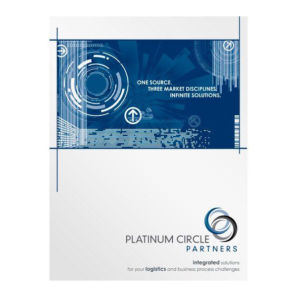 Platinum Circle Partners Infographic Presentation Folder (Front View)