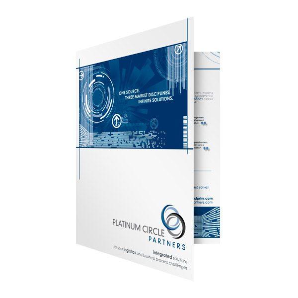 PCP Futuristic Presentation Folder (Front Open View)