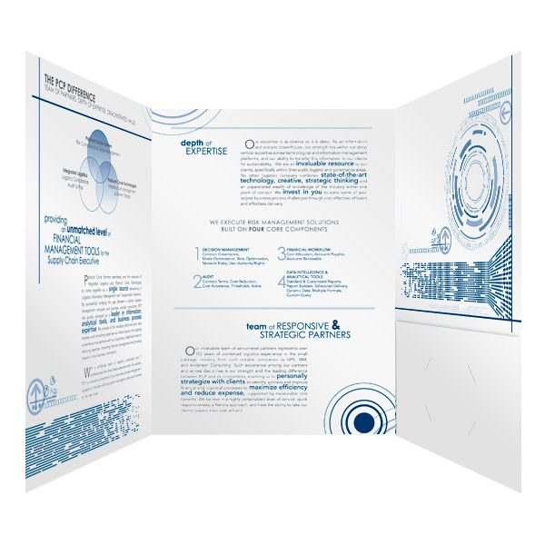 PCP Infographic Presentation Folder Design (Inside View)