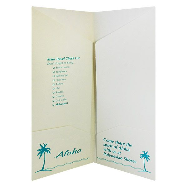 Polynesian Shores Folders with Multiple Pockets (Inside View)