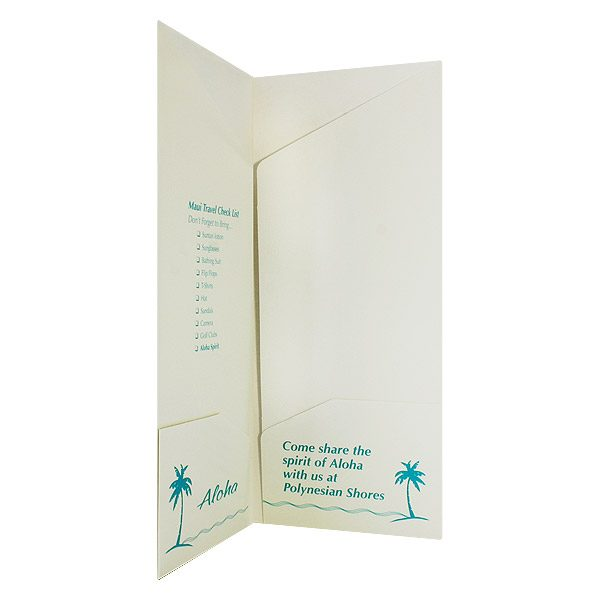 Polynesian Shores Multi-Pocket Presentation Folder (Inside Right View)