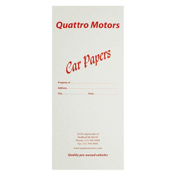 Quattro Motors Car Dealer Folder (Front View)
