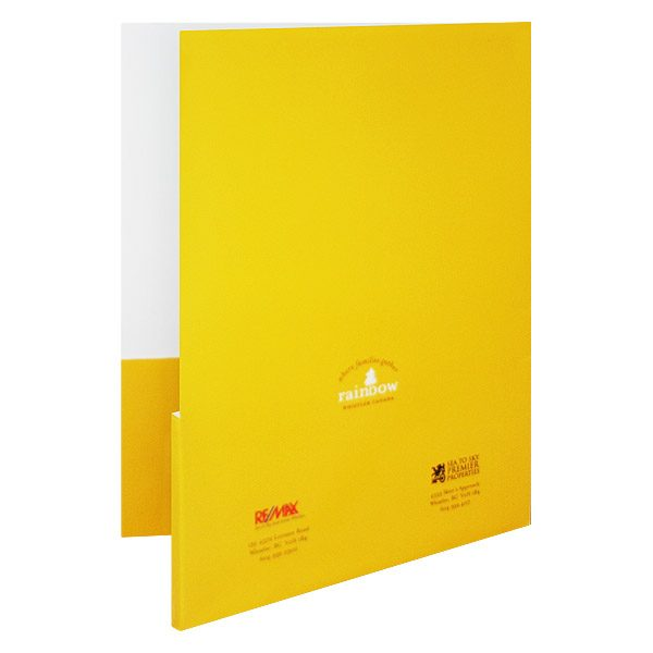 REMAX Presentation Folders for Rainbow Whistler (Back View)