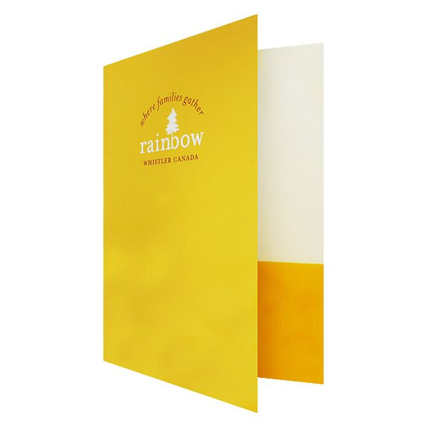 Real Estate Presentation Folders for Rainbow Whistler (Front Open View)