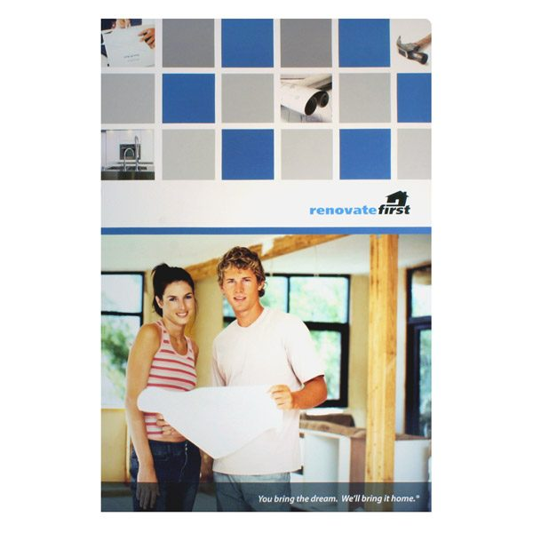 Renovate First Home Improvement Presentation Folder (Front View)