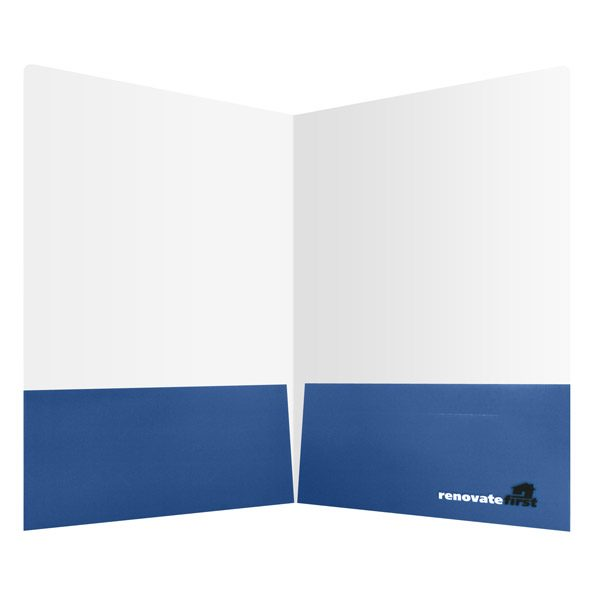 Renovate First Blue Pocket Folder (Inside View)