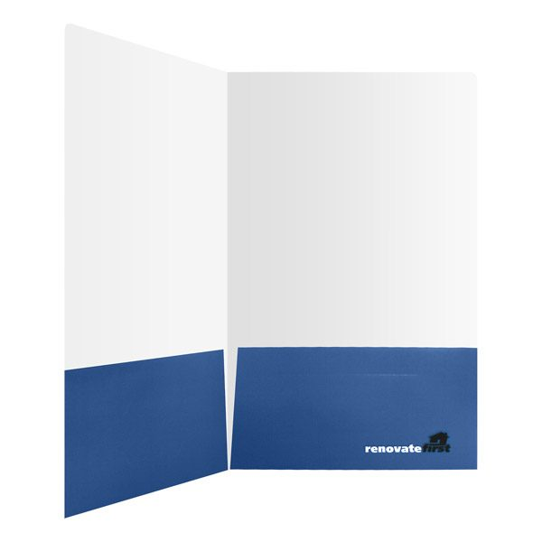 Renovate First Pocket Folder with Logo (Inside Pocket View)