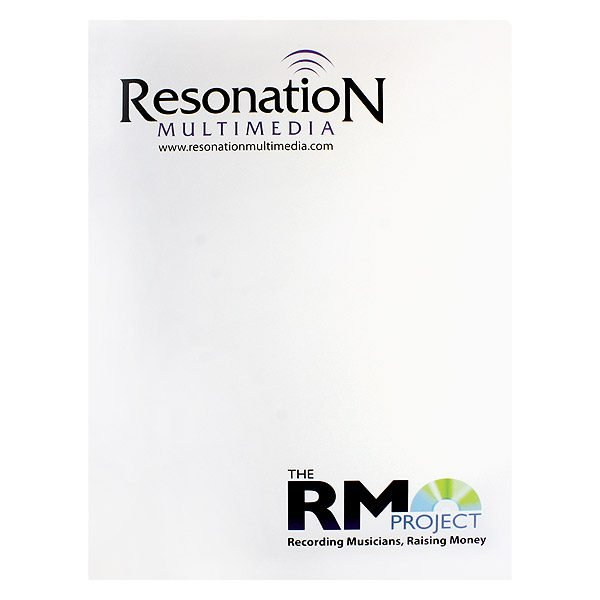 Resonation Multimedia Business Folder with Logo (Front View)
