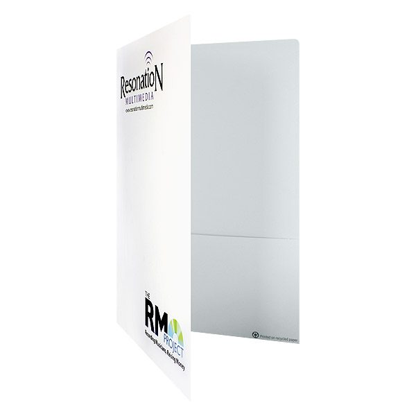 Business Folders with Logo by Resonation Multimedia (Front Open View)