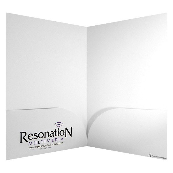 Resonation Multimedia Logo Pocket Folder (Inside View)