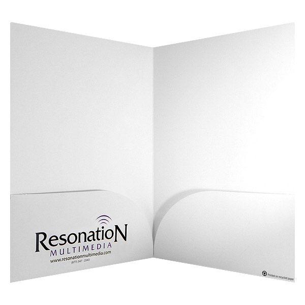 Resonation Multimedia Logo Pocket Folder (Inside View)