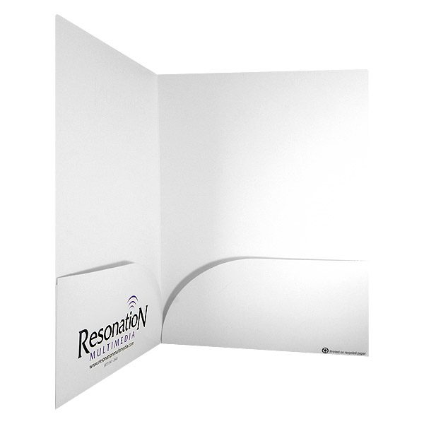 Resonation Multimedia White Two Pocket Folder (Inside Right View)